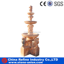 Yellow 3 tiers decorative garden water fountain