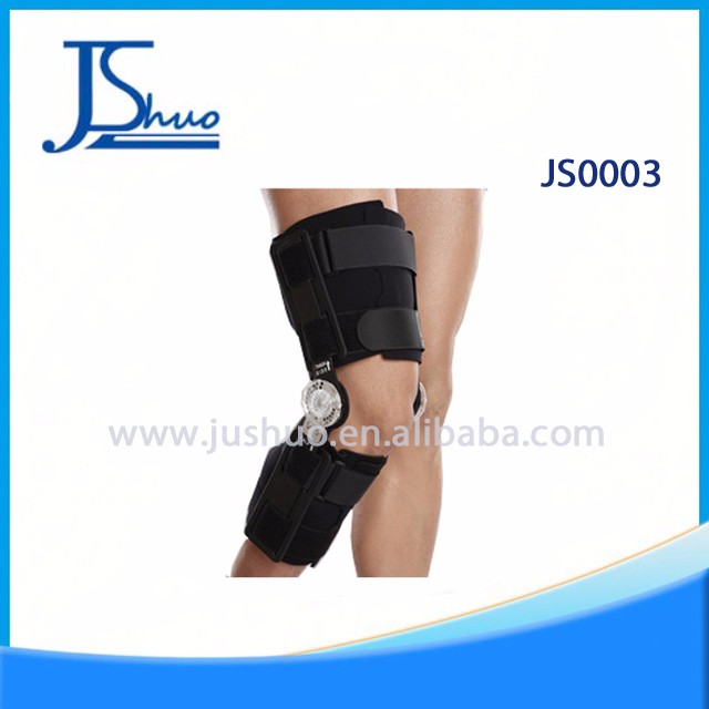 Medical orthopedic hinged leg brace knee flexionator