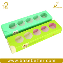 Sweets Food Packaging Boxes Drawer Shape Paper Packing Round Macaron Box