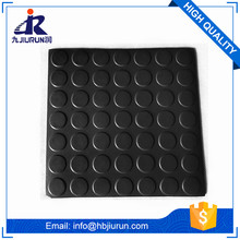 Coin design 3-6mm anti-slip round button rubber sheet