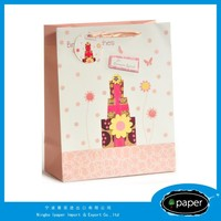 Customized High Quality And Fancy Printed waxed paper gift bags and boxes in bulk