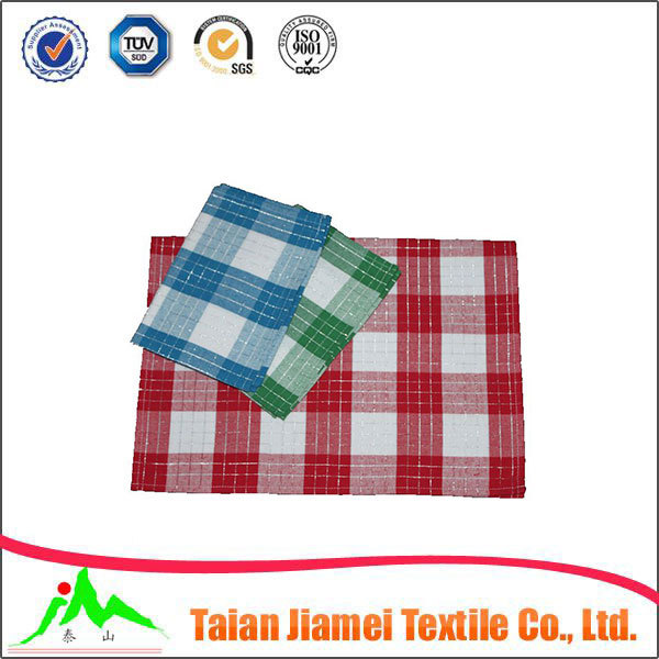 best sale cotton dish washing cloth check design promotional Christmas wholesale kitchen towel