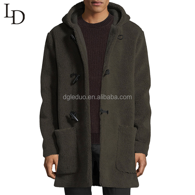 New arrival warm long parka men winter hooded wool jacket