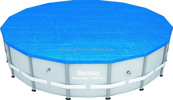 Bestway 8 ft Round Steel Pro Frame Swimming Pool Cover