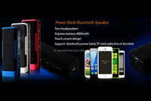 High Quality Portable USB SD Card Mini Speaker FM Radio with 4000mAh Power Bank