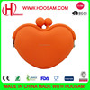 Heart shaped pochi silicone coin purse wallet for ladies
