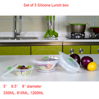 2015 New Arrival Food grade Wholesale Collapsible Silicone Lunch Box