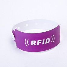 Cheap rfid paper wristband for activity ,hosiptal,airport package,school,hotel