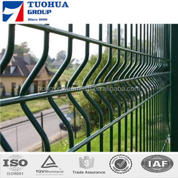 Green,Blue Coated Triangle Welded Fencing