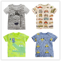 wholesale new 2016 summer hot sale fashion desgin baby girls and boys lovely animal applique print leisure tee