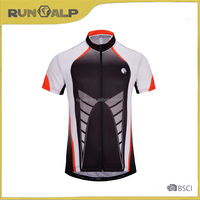 sublimation print quick dry short sleeve cycling jersey