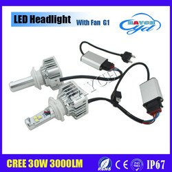 Factory Direct Wholesale G1 led car lamp H7 30W 3000LM LED headlight