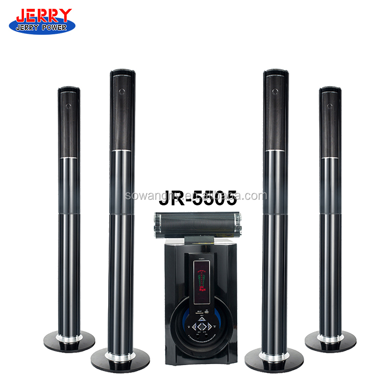 2016 how new promotion 80 watt subwoofer 5.1 tower home theater speaker