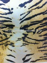 Leather for handbag for chair ( Print Tiger skin design)