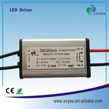 10w 0.9A waterproof constant current led driver for led light full voltage