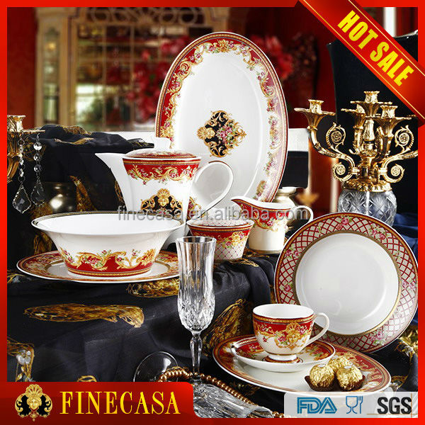 Luxury Fine Bone China 47 Pieces wedding dinnerware sets