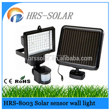 60LED or 100LED Super-bright 270 or 540lumens solar wall lights,solar security light with PIR sensor