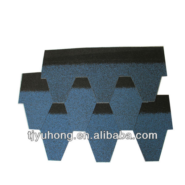 blue color roofing tile/ asphalt shingles