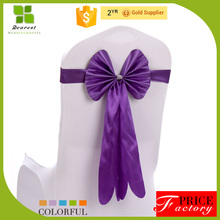 high quality leather chair cover bow for wedding