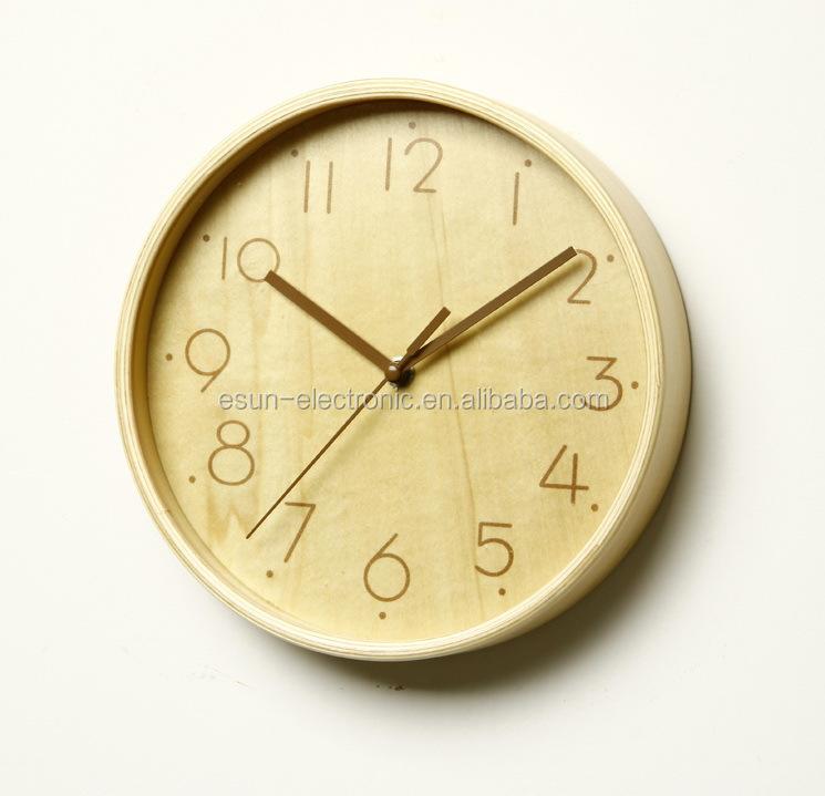 2015 New Style 9 Inch Luxury Art Wood Wall Clock Gift