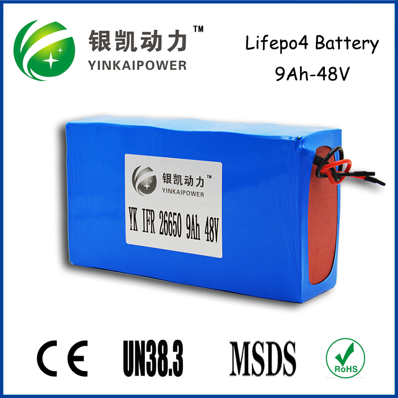 IFR 26650 48V 9AH LiFePO4 Battery 48V lithium battery pack