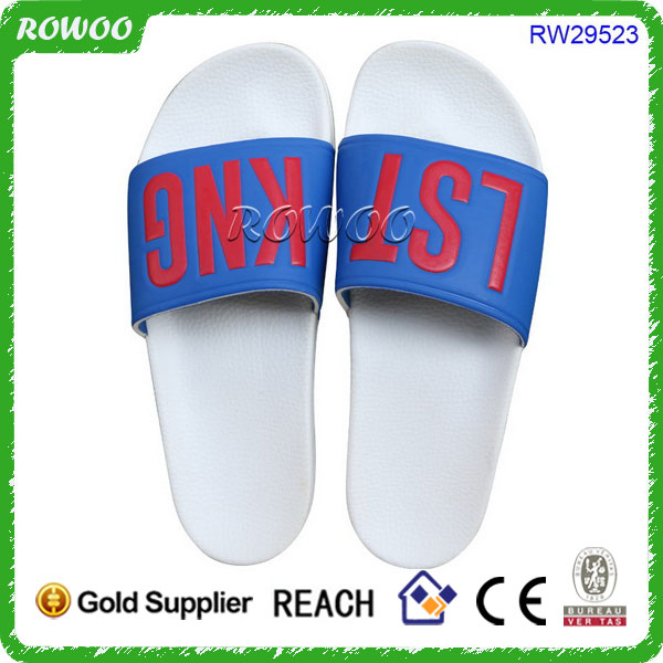 Matching Clothing Use,2017 Make Your Own Logo PU Slide Sandals
