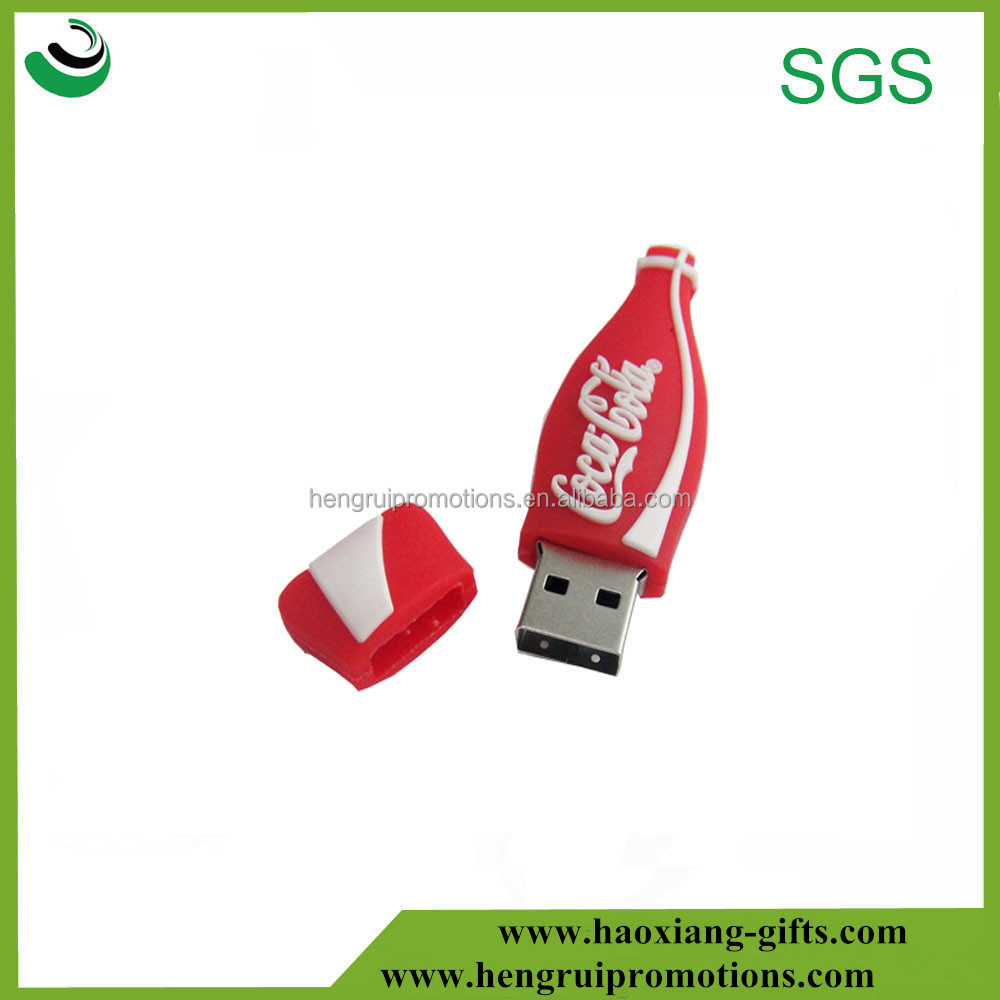 OEM fashional coco cola shape silicone mini usb cover bulk cheap for promotional