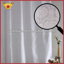 White Polyester Bathroom Drapes One Way Curtains for Home