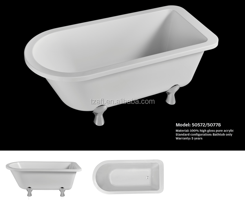 Acrylic bathtub 50572 buy acrylic bathtub bathtub for Best acrylic bathtub to buy