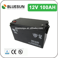 Bluesun high quality lead acid cell battery 12v 100ah with long design service