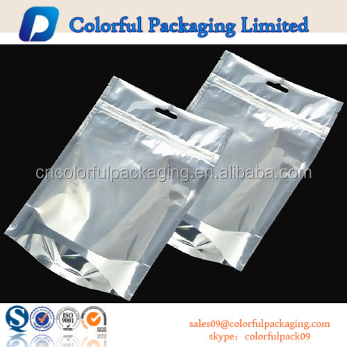 Clear plastic t shirt packaging bags with zip top view for Clear shirt packaging bags