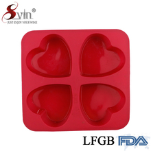 Silicone Mold 4 Holes Heart Shape Chocolate Making Tools Cake Candy Jelly Soap Mold Baking Cake Decorating Tools
