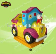 Hot cartoon train kiddie ride/video game machine