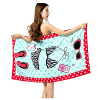 ZOGIFT Custom beach towel printing , customize printed cotton beach towel