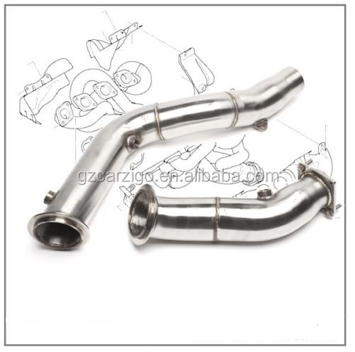 "3"" stainless steel catless downpipe for BMW 3 Series / 4er with S55 Motor"