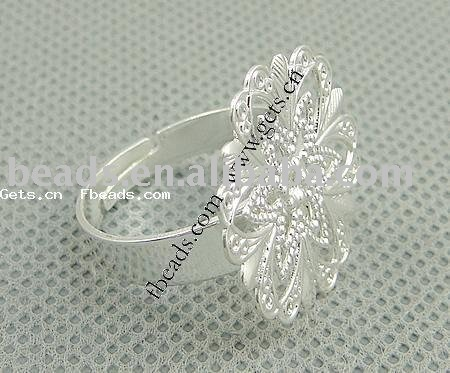 2015 Wholesale Brass Filigree Ring Base