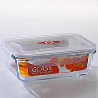 1000ML Food Use rectangular tableware used cooking oil glass food container with silicone seal
