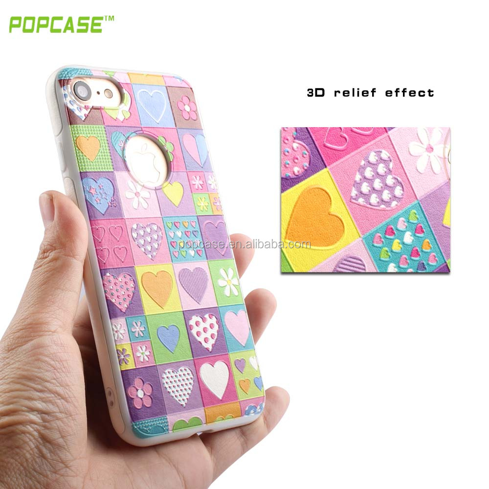 2016 Newest Mobile Phone Accessories 3d Sublimation TPU Case for IPhone 7