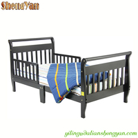 Wooden Flat Pact Furniture Sleigh Toddler Bed