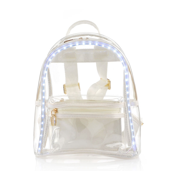 Wholesale fashion waterproof clear pvc backpack beach bag