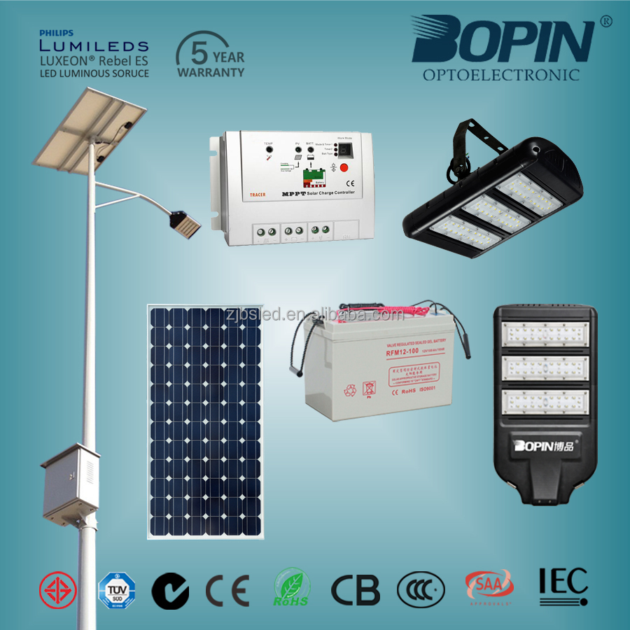 vendor for Abu Dhabi government led all in one solar led street lamps 2000sets