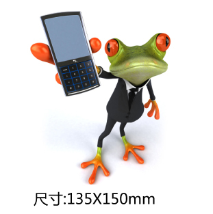 Custom Pvc Green Frog 3D Green Frog 3D Epoxy Dome Stickers Patch