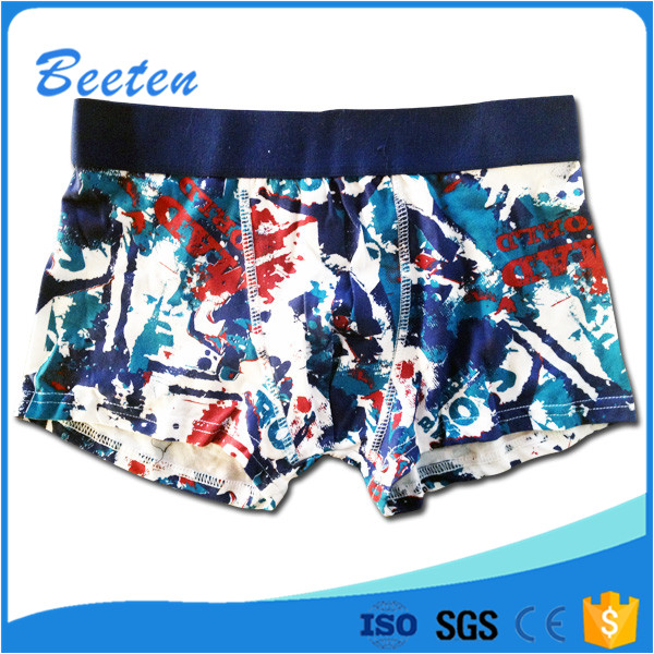 Hot Sale Knitted Fabric Teen Boy Brief Young Boy Underwear Model