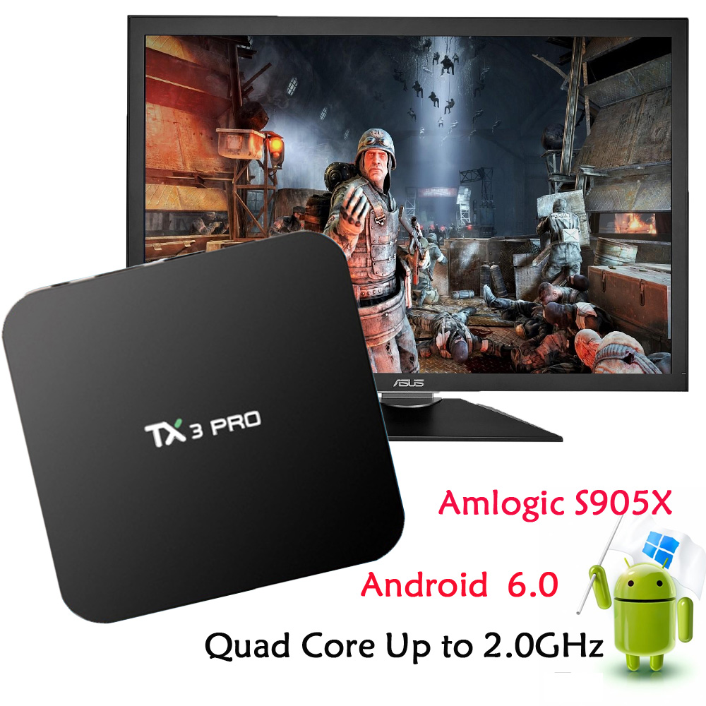 High Definition Set-Top Boxes tx3 pro S905X 1G+8G Quad core android 6.0 marshmallow tv box