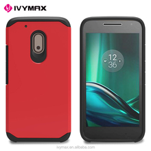 Top sale wholesale free sample hybrid hard phone accessories mobile case for Motorola Mot G4 Play