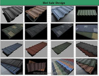 colored roof tile metal in cambodia/stone coated steel roofing sheet/low cost building material
