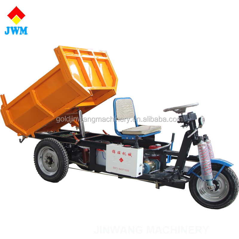 self-loading hydraulic controls electric tricycle cargo/three wheel motor tricycle