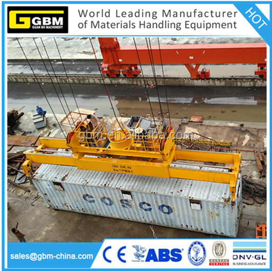 GBM hydraulic rotating telescopic spreader 20ft 40ft 45ft container spreader manufacturer with Bromma quality
