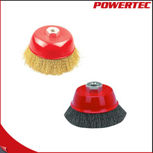 POWERTEC Crimped Wire Cup Brush For Angle Grinders
