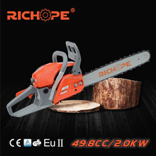 First rated chain saw 2 stroke 25.4cc petrol atom cutting machine gasoline chainsaw with cheap price